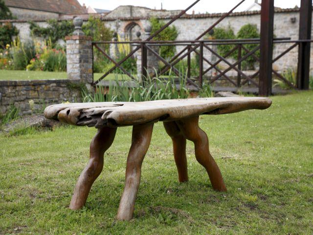 Teakrodsbænk - England